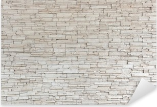White Stone Tile Texture Brick Wall Pixerstick Sticker