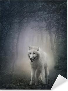 White wolf Pixerstick Sticker
