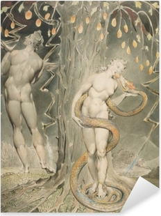 Sticker Pixerstick William Blake - La Tentation d'Ève