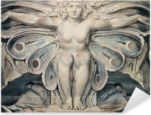 Sticker Pixerstick William Blake - Personnification du tombe
