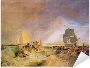 Pixerstick Sticker William Turner - De scheepvaart aan de monding van de Theems