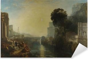 Pixerstick Sticker William Turner - Het verval van Carthago