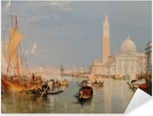 William Turner - The Dogana and San Giorgio Maggiore Pixerstick Sticker