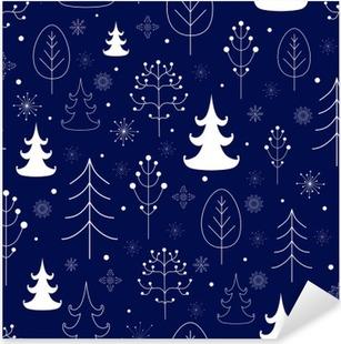 Pixerstick Sticker Winter bos achtergrond