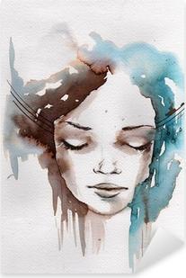 Winter, cold portrait Pixerstick Sticker