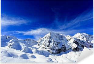 Winter mountains - snow-capped peaks of the Alps Pixerstick Sticker