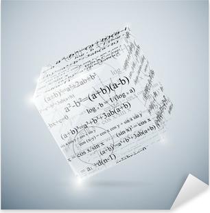 Pixerstick Sticker Wiskundige kubus
