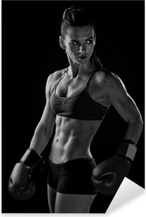 woman boxer Pixerstick Sticker
