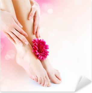 Woman's Feet and Hands. Manicure and Pedicure concept Pixerstick Sticker