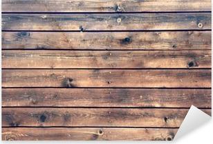 Wood Board Plank Panel Brown Background, XXXL Pixerstick Sticker