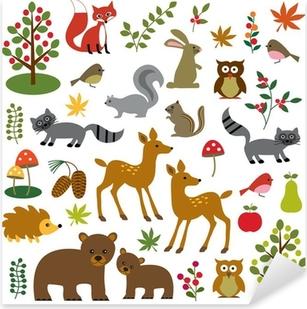 woodland wildlife clipart Pixerstick Sticker