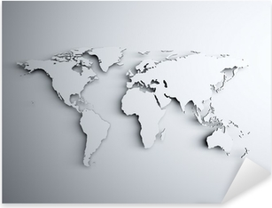 World map 3D Pixerstick Sticker