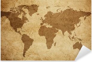 World map texture background Pixerstick Sticker