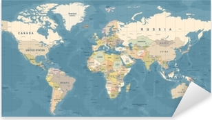 World map vector detailed illustration of worldmap sticker pixers world map vector detailed illustration of worldmap pixerstick sticker gumiabroncs Choice Image