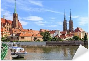 Sticker Pixerstick Wroclaw, Ostrow Tumski (l'île de la cathédrale), la Pologne