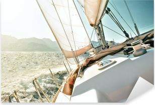 Sticker Pixerstick Yacht à voile