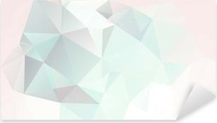 Pixerstick Sticker Zachte pastel abstracte geometrische achtergrond met hellingen vector