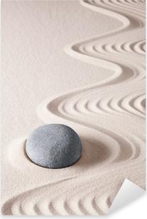 Pixerstick Sticker Zen meditatie steen