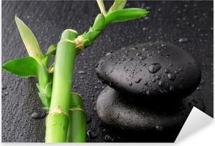 Pixerstick Sticker Zen stenen en bamboe met dauw
