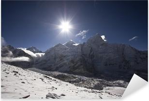 Pixerstick Sticker Zonsopgang op Mount Everest Nepal