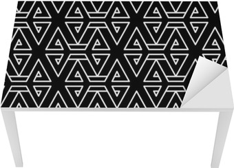 Abstract geometric black and white hipster fashion pillow pattern Table & Desk Veneer
