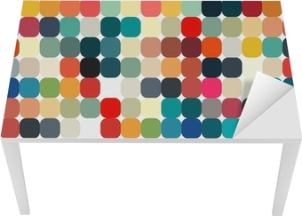 Abstract geometric retro pattern seamless for your design Table & Desk Veneer