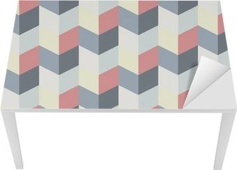 abstract retro geometric pattern Table & Desk Veneer