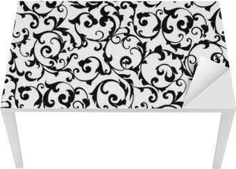 Black seamless pattern,silhouette Table & Desk Veneer