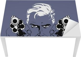 blond gangster man Table & Desk Veneer