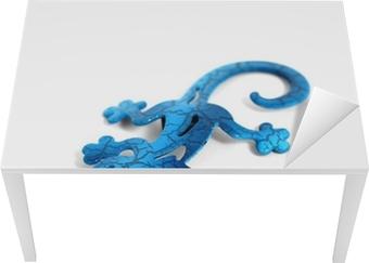 Blue metal lizard Table & Desk Veneer
