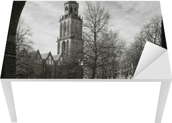Cityscape of Groningen with the Martini tower Table & Desk Veneer