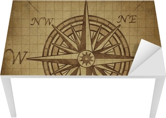 Compass rose with grunge texture Table & Desk Veneer