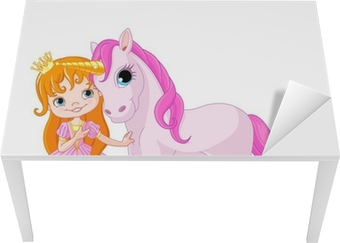 Cute Princess and Unicorn Table & Desk Veneer