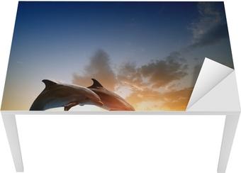 Dolphins jumping Table & Desk Veneer