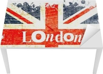 drapeau anglais decoupe london Table & Desk Veneer