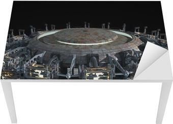 Fantasy 3D model of futuristic space ship