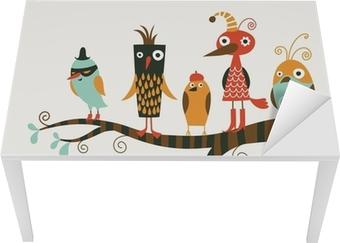 five funny birds Table & Desk Veneer