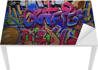 Graffiti wall urban street art painting Table & Desk Veneer