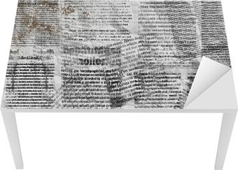 Grunge abstract newspaper background for design with old torn po Table & Desk Veneer