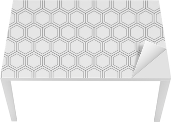Honeycomb seamless pattern.Vector illustration.Hexagonal texture. Grid on white background. Geometric design. Modern stylish abstract texture. Template for print, textile, wrapping and decoration Table & Desk Veneer