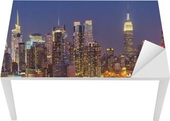 Manhattan by night Table & Desk Veneer