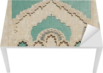 Morocco. Detail of Hassan II Mosque in Casablanca Table & Desk Veneer