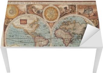Old map (1626) Table & Desk Veneer