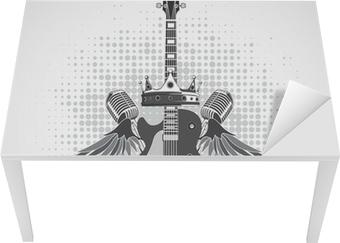 Rock n roll symbol Table & Desk Veneer