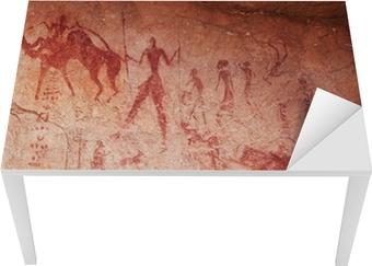 Rock paintings of Tassili N'Ajjer, Algeria Table & Desk Veneer