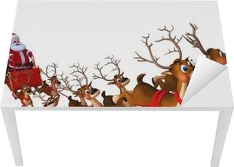 santa with sleigh Table & Desk Veneer