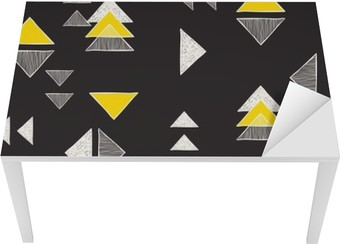 Seamless hand-drawn triangles pattern. Table & Desk Veneer