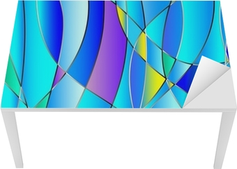 Stained glass texture, blue tone, background vector Table & Desk Veneer
