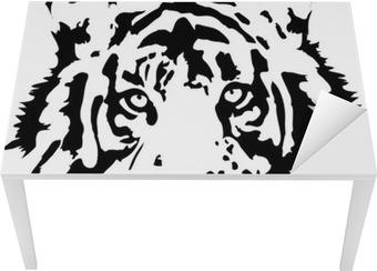 tiger head in black interpretation Table & Desk Veneer