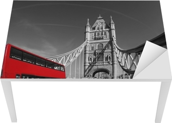 Tower Bridge with double decker in London, UK Table & Desk Veneer